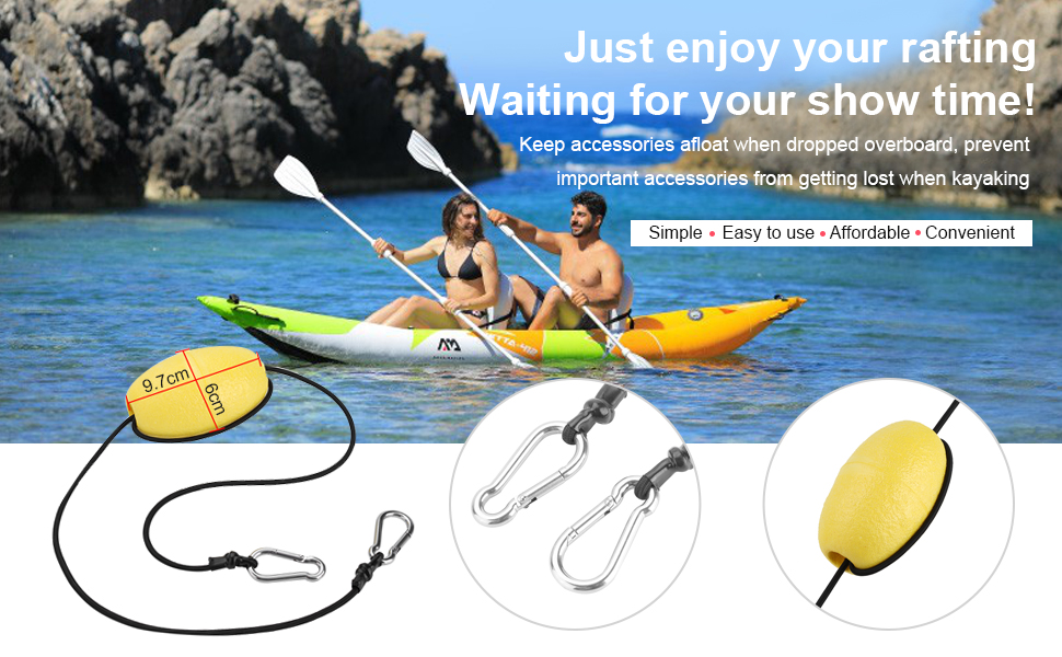 "Kayak Canoe Tow Line Throw Line Anchor Float w// 36/"" Nylon Rope /& 3.8/"" Float Buoy"