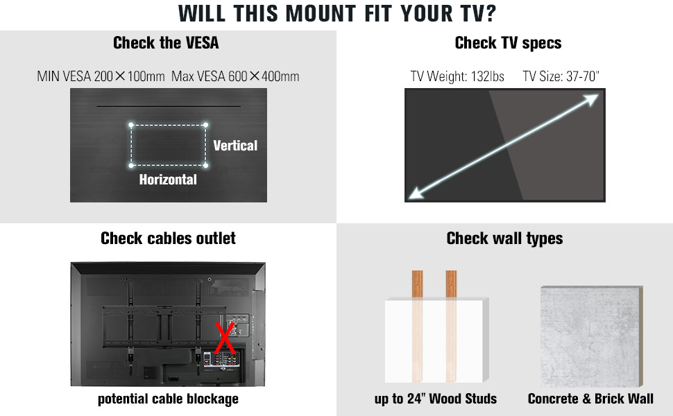 tv mount 70 inch