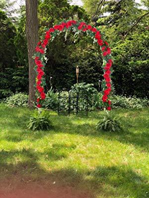 SHACOS 3 Unidades Guirnalda de Rosas Artificiales Flores Artificiales Decoración Rosa de Seda Roja Rosas Falsas para Decoración Balcón Valla Jardín Boda Fiesta, 200cm: Amazon.es: Hogar