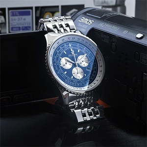 wristwatch automatic battery quartz leatherstrap stainless steel waterproof swiss made gold silver