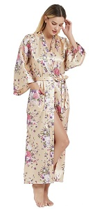 long robes for women floral lightweight long robes for women