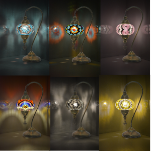 lots of variations of turkish lampshade from turkey