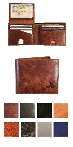 rfid wallet for men bifold genuine leather
