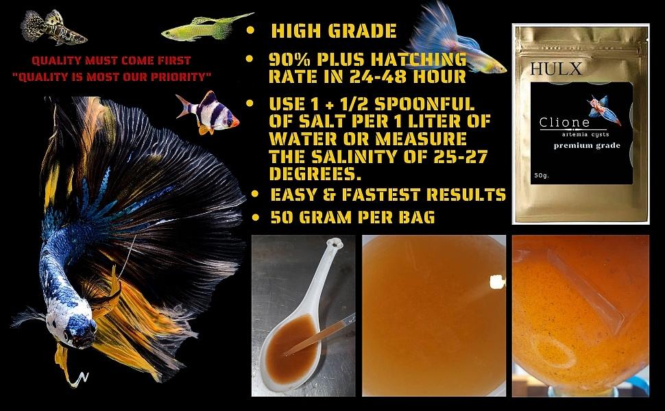 Fish Food Tropical Feed Color Enhancer Sinking Pellets Baby Fry Newborn artemia Brine Shrimp Eggs