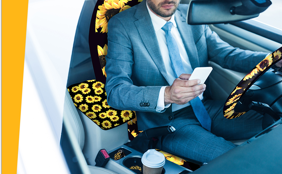 High quality sunflower car accessories set can give you a comfortable journey when you're driving