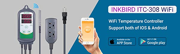 inkbird wifi smatr temperature controller ITC 308 for IOS and android