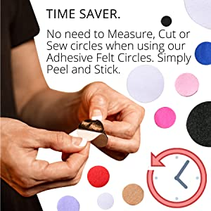 YYCRAFT 200 pcs of Adhesive Felt 3//4 20mm Die Cut DIY Projects Circles for DIY and Sewing Handcraft Various Package Sizes Wholesale