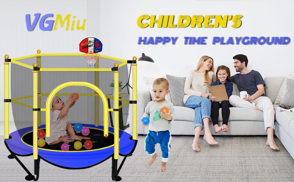 Indoor & Outdoor trampoline for kids toddlers