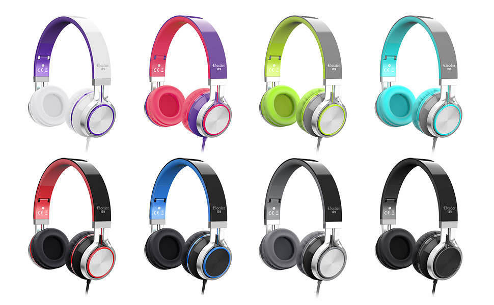 11  Elecder i39 Headphones with Microphone Foldable Lightweight Adjustable On Ear Headsets with 3.5mm Jack for iPad Cellphones Computer MP3/4 Kindle Airplane School (Mint/Gray) cd548ee5 a12a 4a8d a6e4 3dcabfbb1b7b