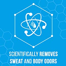 scientifically removes sweat and body odors