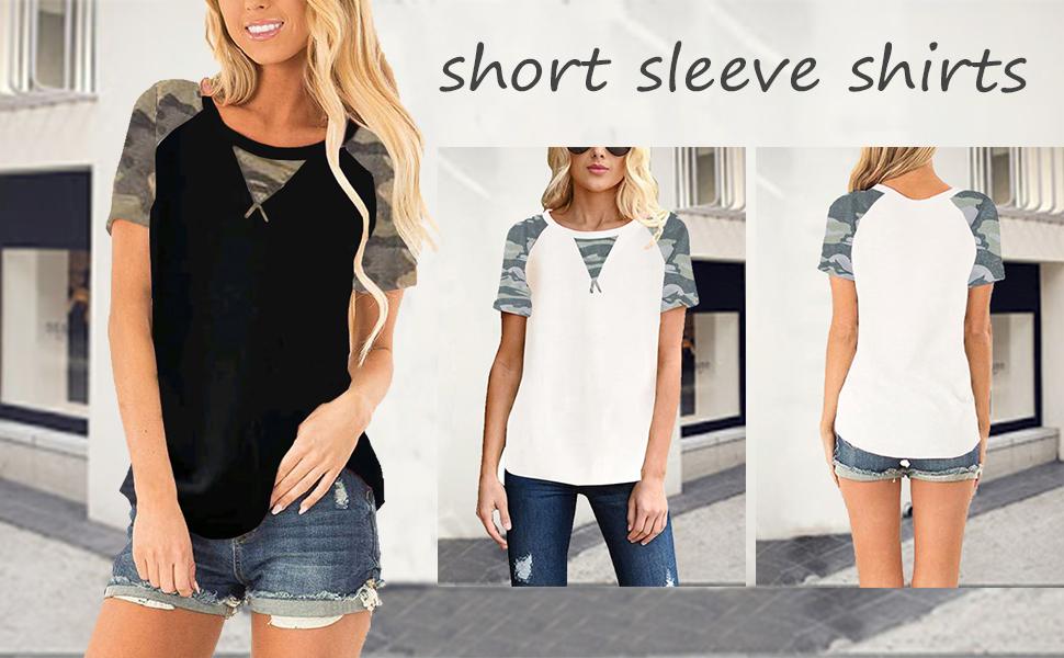short sleeve shirts for women summer shirts for women casual tunic tops for leggings for women