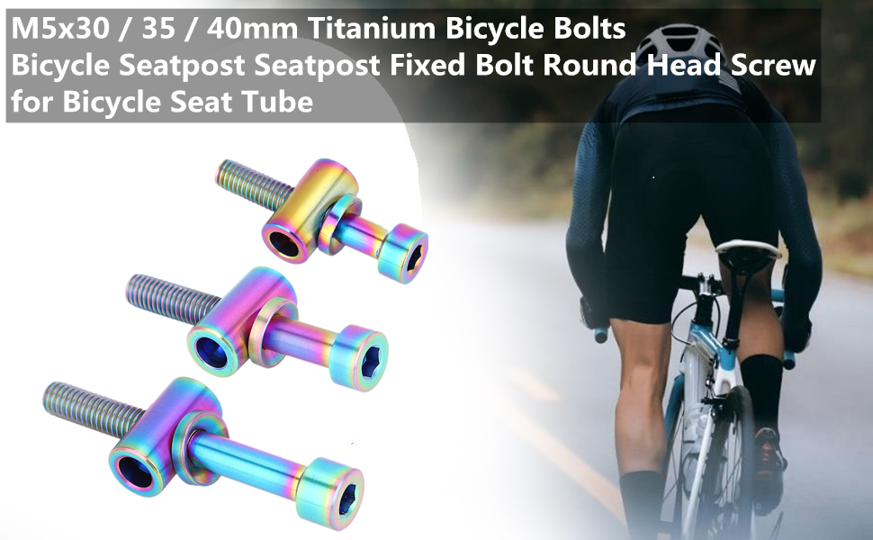 Details about  /2 Set M5x30//40mm Cycling Bike Bicycle Seat Post Bolt Titanium Alloy Fixing Screw