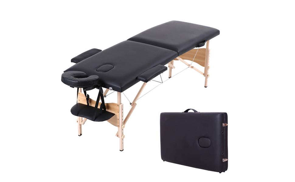 soges Mesa de masaje de 2 zonas 185 * 60 * 58 cm Cama de masaje ...