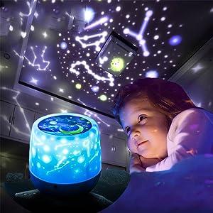 Lampara proyector estrellas bebe - Proyector estrellas techo con ...