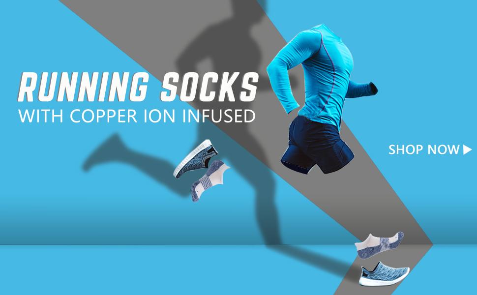copper running socks