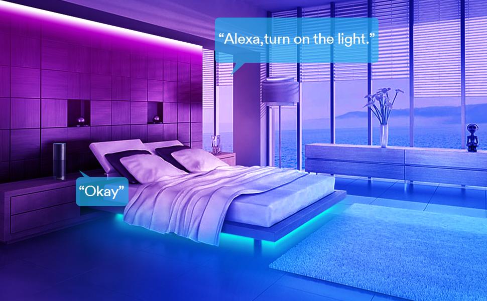 Smart Led Strips Lights Alexa 3m 9 8ft Lumary 6 Pin Rgb Ww Cw Smart Wifi Led Strip Music Sync Lighting Strip Mood Light Works With Echo Google Assistant App Controlled House Kitchen Tv Decor Amazon Co Uk Lighting