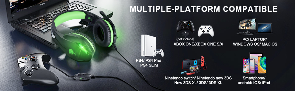 green gaming headset