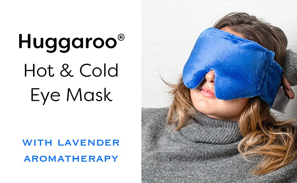 huggaroo hot and cold eye mask with lavender aromatherapy