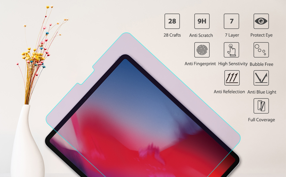 ipad pro 12.9 matte screen protector 2018 case inch glass for 3rd generation tempered cover apple