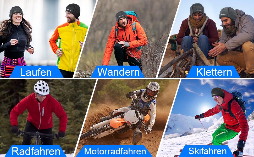 Winter Sportmütze Laufen Wandern  Klettern Radfahren Motorradfahren Skifahren