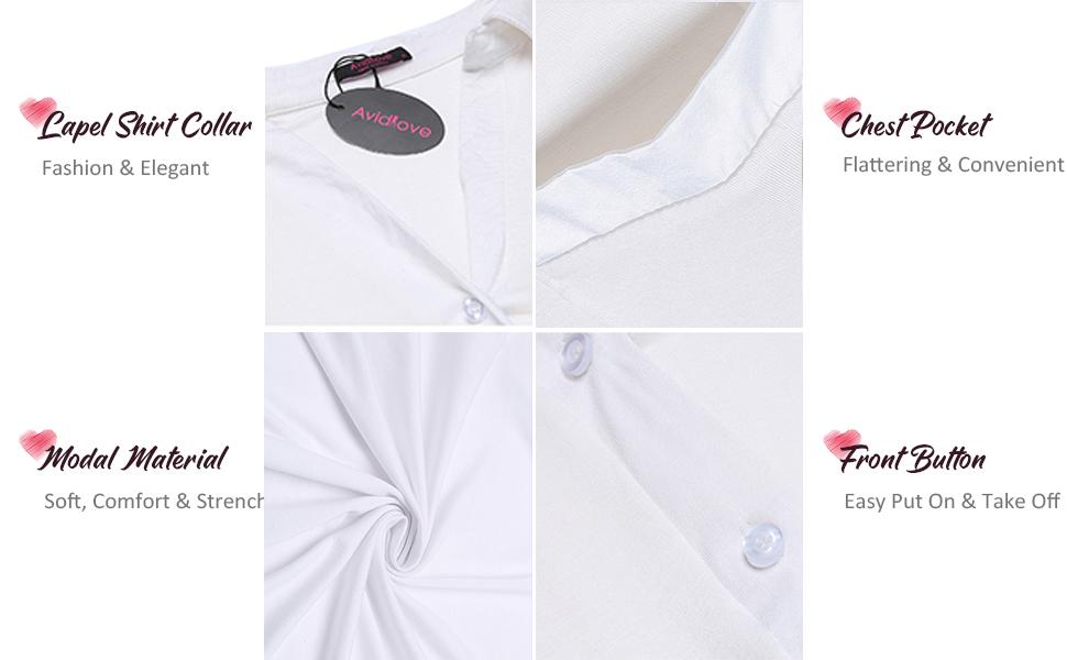 button up sleepshirt