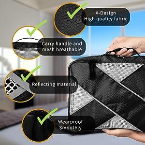 6 Sets Luggage Organizers Neat Suitcase Space Saving Black Kuyia Travel Packing Cubes