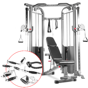 XMark functional trainer complete bundle option including the 7630 bench and upgraded accessories