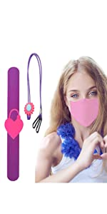4 Pack Mask Lanyard for Kids Face Mask w/ Double Clip | 4 Kids Hand Sanitizer Keychain Carriers