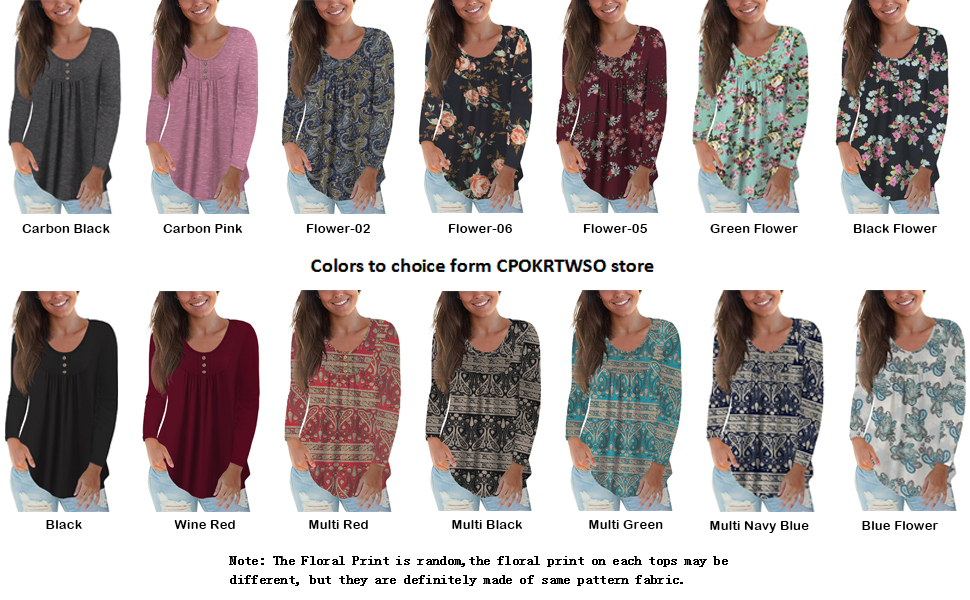 Ladies tops material - Like the soft fabric, lightweight and comfortable for usually wear