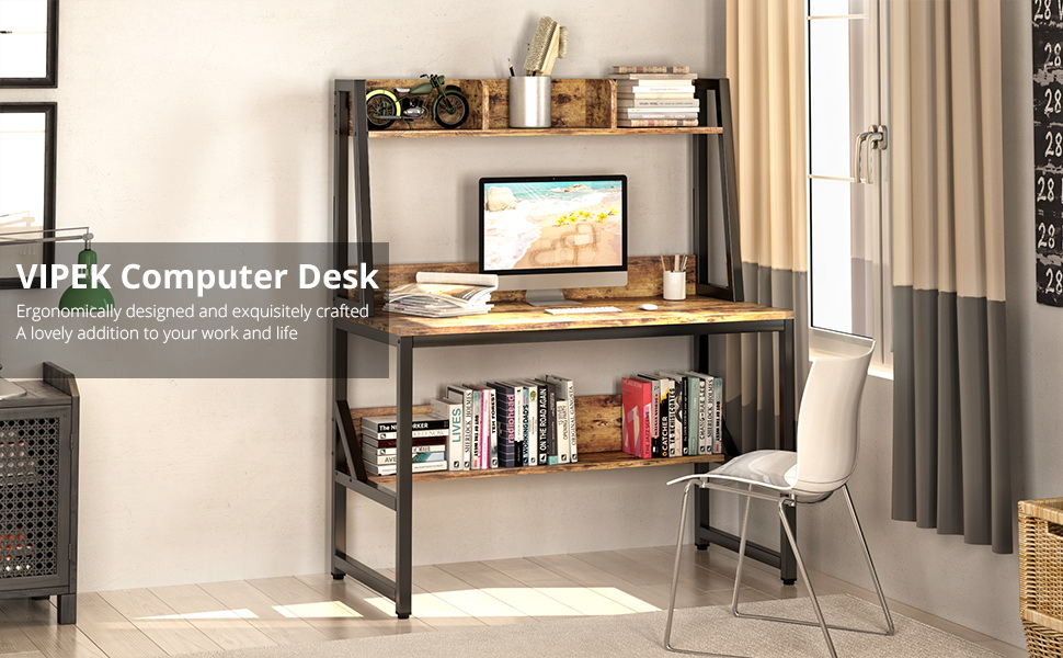 desk with shelves for bedrooms