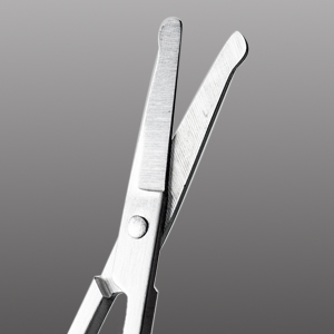 Rounded blade tip for trimming safely