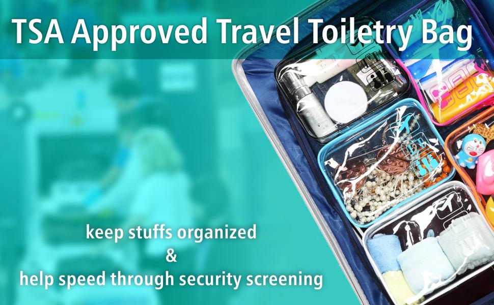 TSA approved travel toiletry bag