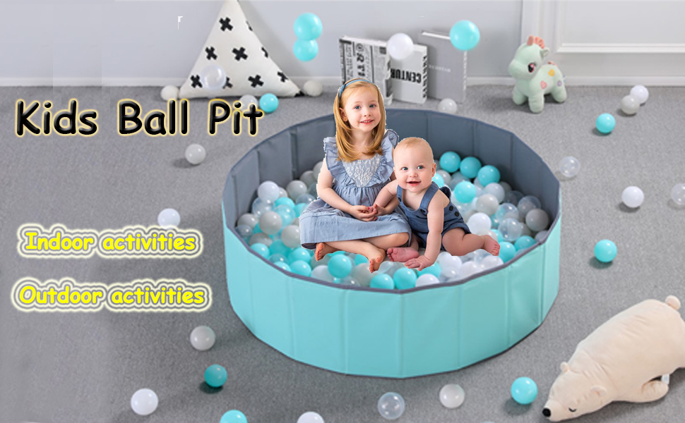 More Than 12 Sq.ft Play Space No Need to Inflate Stable Ball Pit for Toddler Balls Not Included Folding Portable Baby Play Ball Pool IRuiYinGo Kids Ball Pit