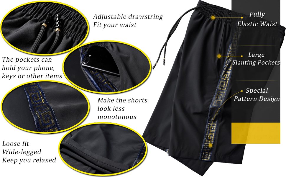 Absorb sweat Men's Outdoor Lightweight Hiking Shorts Quick Dry Shorts Sports Casual Shorts