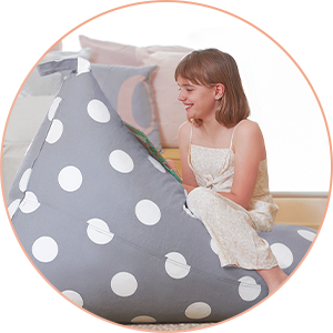grey bean bag for kids girls boys
