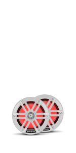 6.5 inch marine speaker with lights