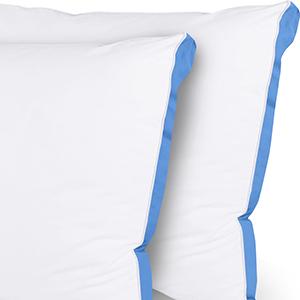 Utopia Bedding Premium Oreillers Respirant et Doux Lot de 2 - 40 x 80 cm Oreillers Rectangulaires avec Fermeture /Éclair Blanc Tissu en Coton M/élang/é avec Garnissage 3D Fibre Polyester