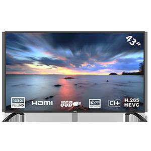 HKC 43F3 Televisor LED de 109 cm (43 Pulgadas) (Full HD, sintonizador Triple, Ci +, HDMI, Reproductor Multimedia a través de USB 2.0)
