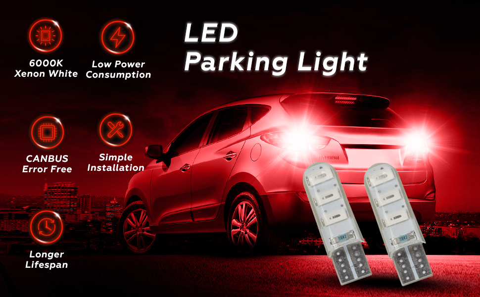Universal T10 LED Parking Light 9 SMD Super Bright Interior Pilot License Plate