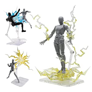 metagio 10 pi/èces Support pour Figurine daction Gundam Action Base Support Figurine daction Titulaire Support Daffichage de Figurine daction Dassemblage pour 1//144 HG//RG Gundam Figure Mod/èle