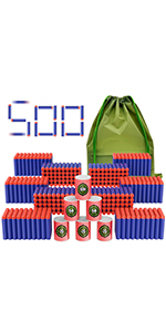 Coodoo Compatible Darts 500 PCS Refill Pack Bullets for Nerf N-Strike Elite Series Blasters Toy Gun