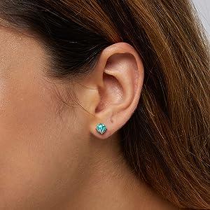 opal earrings silver