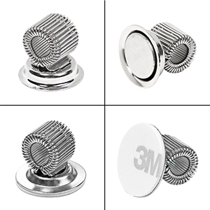 magnetic pen holder clip marker holder silver finish strong 3M adhesive kitchen office home