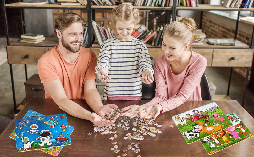 kid puzzles age 3-8 60 piece children puzzles by age 3-5 rising kindergartener, preschooler