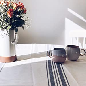 country stripes tablecloth