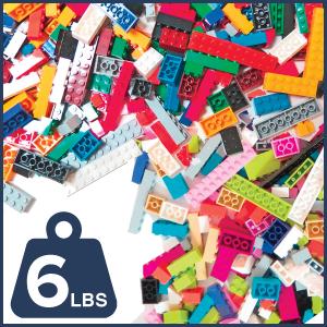 6lb Bulk Building Bricks - Assorted- Pastel - Primary - 2,000+ Pieces