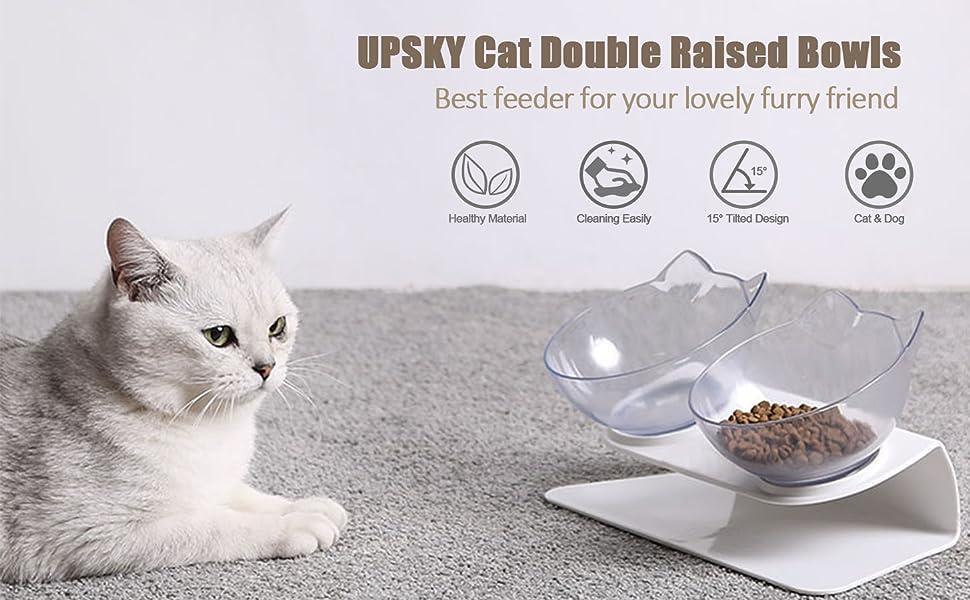 UPSKY Cat Raised Bowl
