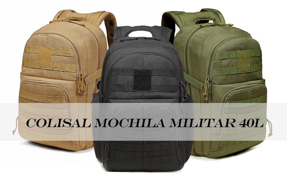 Colisal Mochila Militar 40L & 25L Mochila Tactica para Hombre Mochila Ejercito con Molle Gran Capacidad Mochila Asalto para Senderismo Mochila