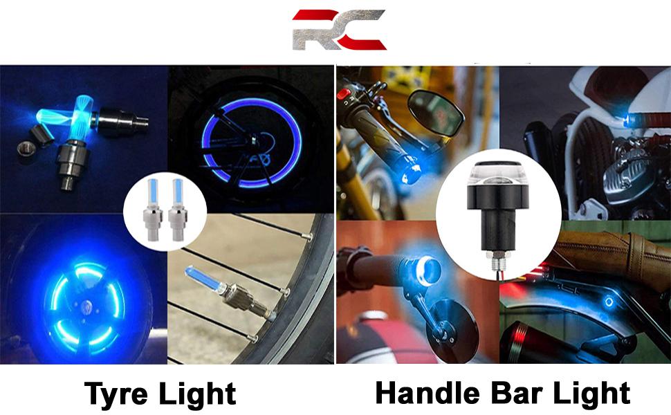 handle bar light and tyre light combo