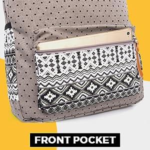 Front pocket backpack canvas